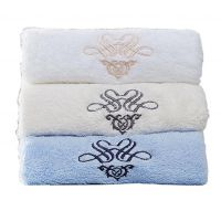 Gentle Meow Set of 3 Cotton Bath Towels Spa/Hotel/Sports Towel Washcloth White Beige Blue