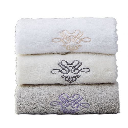 Gentle Meow Set of 3 Cotton Bath Towels Spa/Hotel/Sports Towel Washcloth White,Beige,Gray