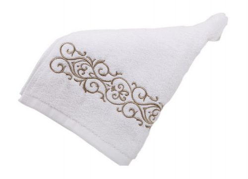 Gentle Meow Set of 2 Yellow Embroidery Cotton Bath Towels Spa/Hotel/Sports Towel Washcloth