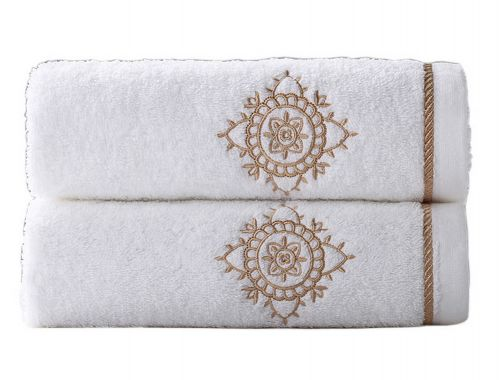 Gentle Meow Set of 2 [Maria] Embroidery Cotton Bath Towels Spa/Hotel/Sports Towel Washcloth