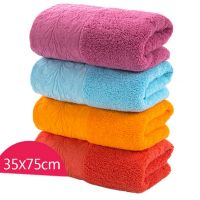 Gentle Meow Set of 4 Satin Carved Bath Towels Washcloth Family Towels Set 75*34cm Hand Towel