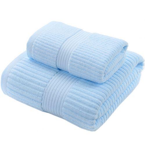 Gentle Meow Elegant Bath Towels Washcloth Spa/Hotel/Sports Towel,1 Bath and 1 Hand/Face,Blue