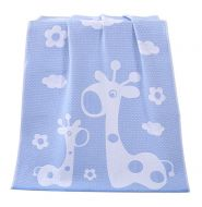 Gentle Meow Happy Giraffe Bath Towels Cotton Family Towels Washcloth Children Towel Blue