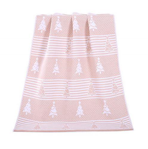 Gentle Meow Christmas Tree Towels Cotton Family Towels Washcloth Bath Towel Khaki Gift Idea