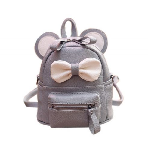 Cute Toddler Backpack Kindergarten Bag Travel Kids Backpacks Purse Bowknot Gray