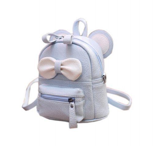 Cute Toddler Backpack Kindergarten Bag Travel Kids Backpacks Purse Bowknot Blue