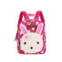 Cute Rabbit Kids School Bag Toddler Backpack Camping Canvas Backpacks Purse Rose