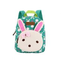 Cute Rabbit Kids School Bag Toddler Backpack Canvas Travel Backpacks Purse Green