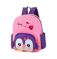 Cute Pink Penguin School Bag Toddler Backpack Kids Travel Canvas Backpacks Purse