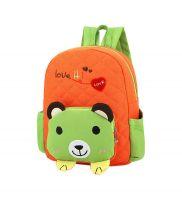 Cute Orange Bear School Bag Toddler Backpack Kids Travel Canvas Backpacks Purse