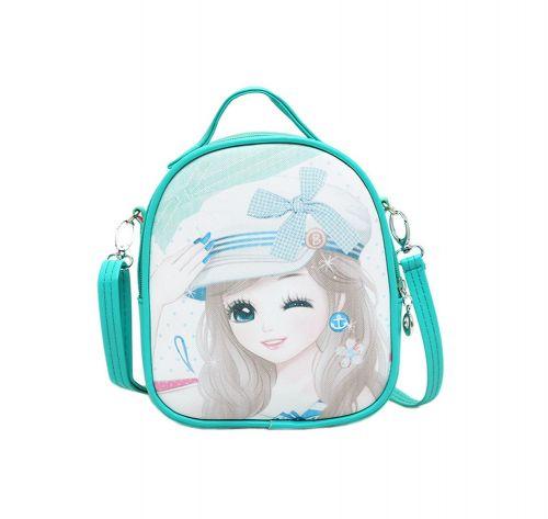 Children School Bag Cute Travel Shoulder Bag Kids Backpack Purses Green Princess