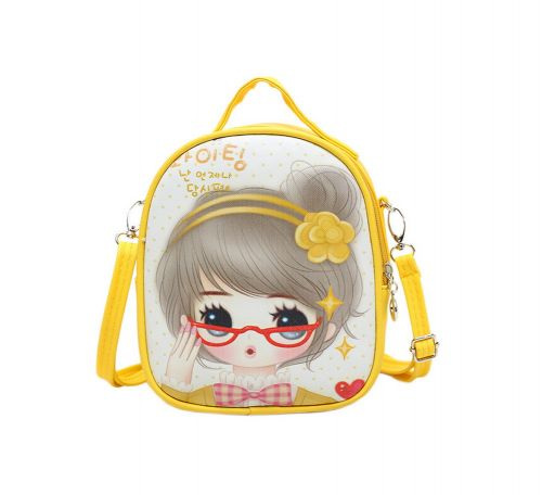 Children School Bag Cute Travel Shoulder Bag Kid Backpack Purses Yellow Princess
