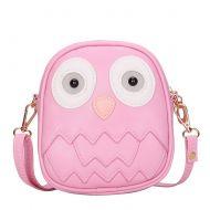 Cute Owl Children Travel Shoulder Bag Kids Backpack Purses School Bag Pink