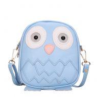 Cute Owl Children Travel Shoulder Bag Kids Backpack Purses School Bag Blue