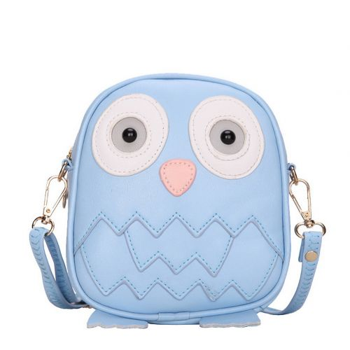 Cute Owl Children Travel Shoulder Bag Kids Backpack Purses School Bag Blue